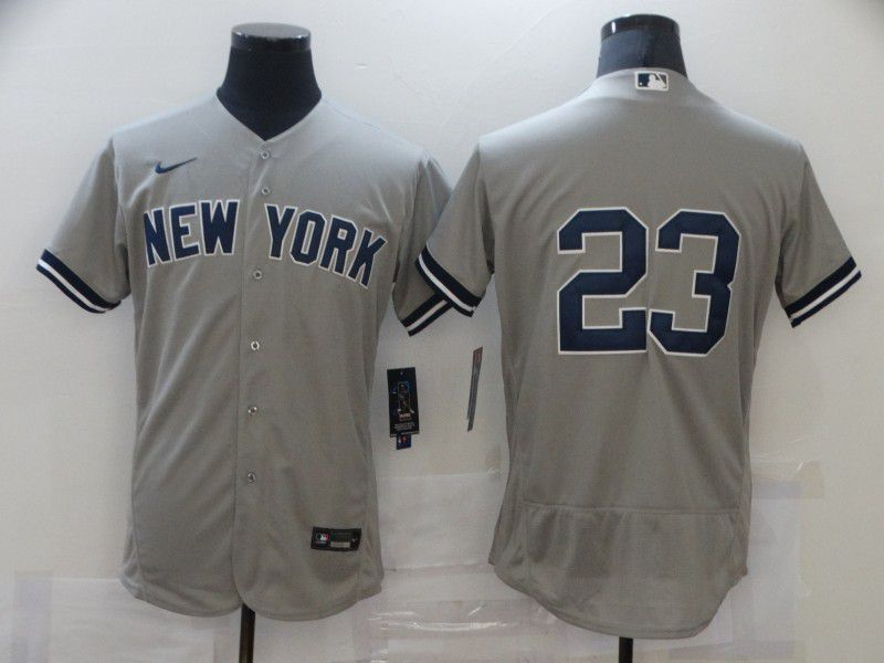 Cheap Men New York Yankees 23 No name Grey Elite Nike MLB Jerseys